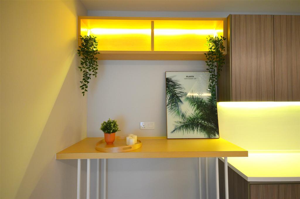 Contemporary, Apartment, Kitchen, Lakefront Residence, Cyberjaya, Interior Designer, Anwill Design Sdn Bhd, Minimalistic