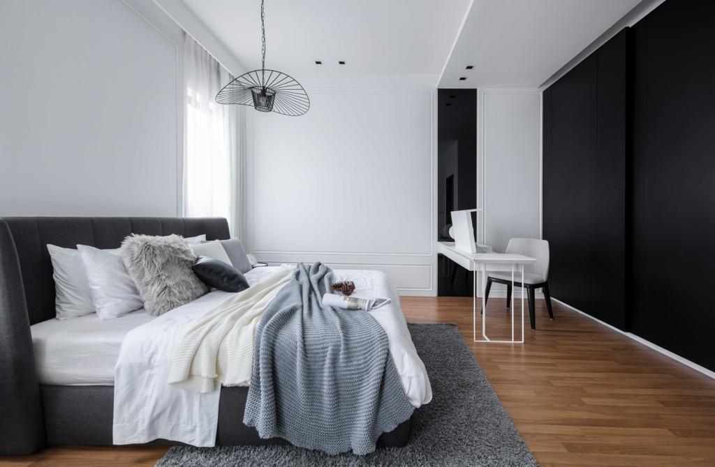 Modern, Landed, Bedroom, Warisan Puteri, Sepang, Interior Designer, PINS Studio, Traditional