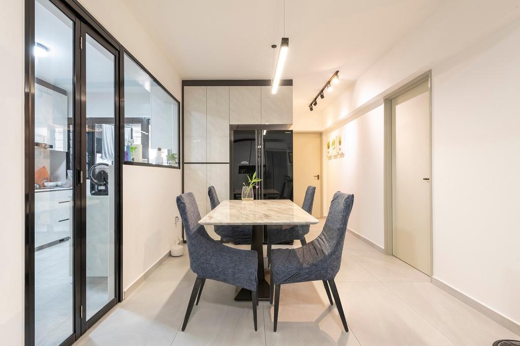 Modern, HDB, Dining Room, Buangkok Crescent, Interior Designer, Ideal Haus