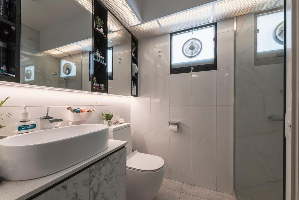 Modern, HDB, Bathroom, Buangkok Crescent, Interior Designer, Ideal Haus