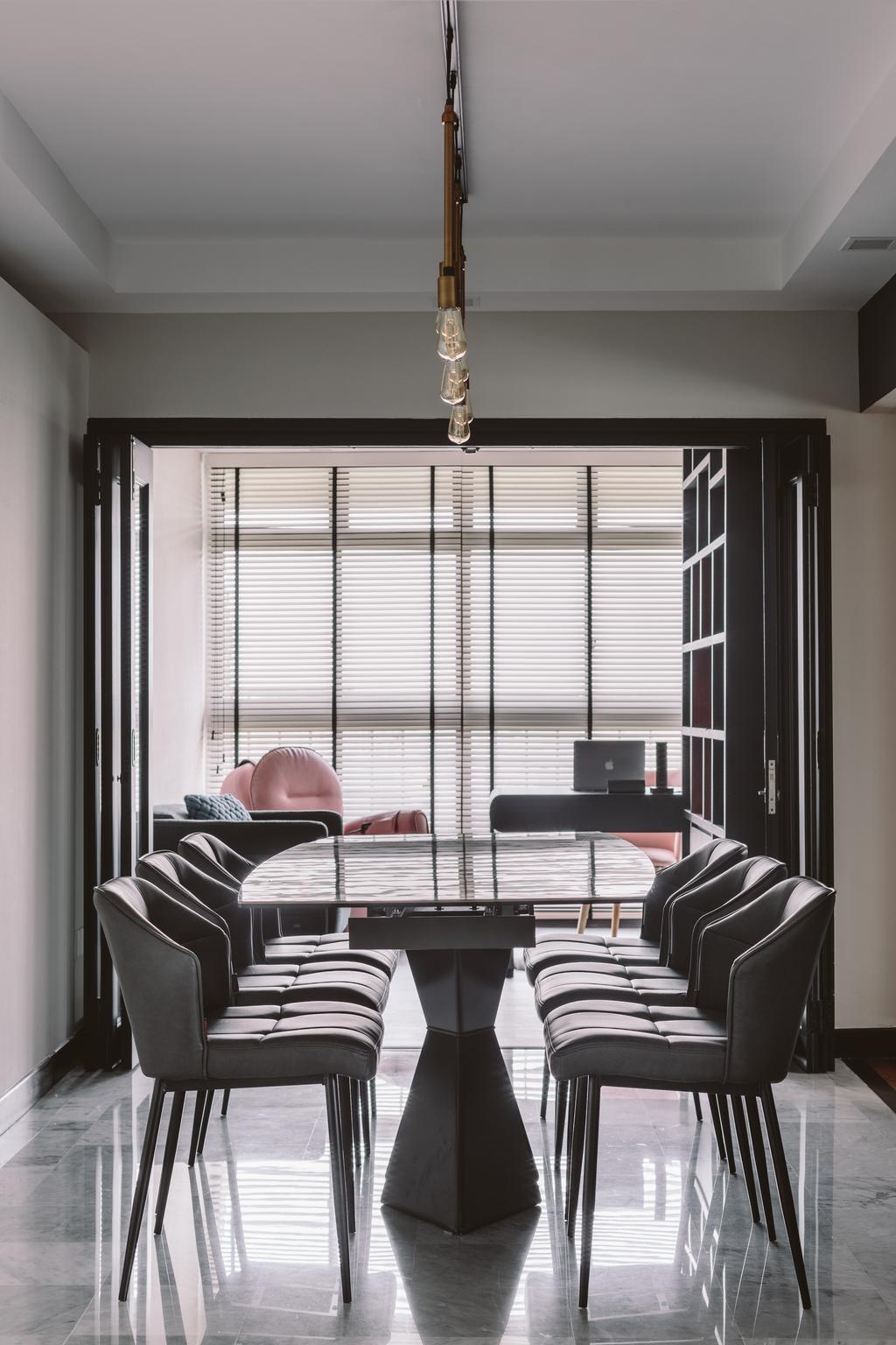 Modern, HDB, Dining Room, Geylang Bahru, Interior Designer, D Initial Concept, Contemporary