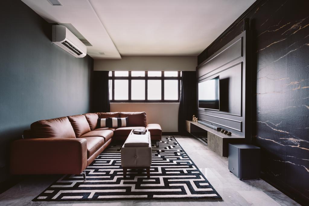 Modern, HDB, Living Room, Geylang Bahru, Interior Designer, D Initial Concept, Contemporary