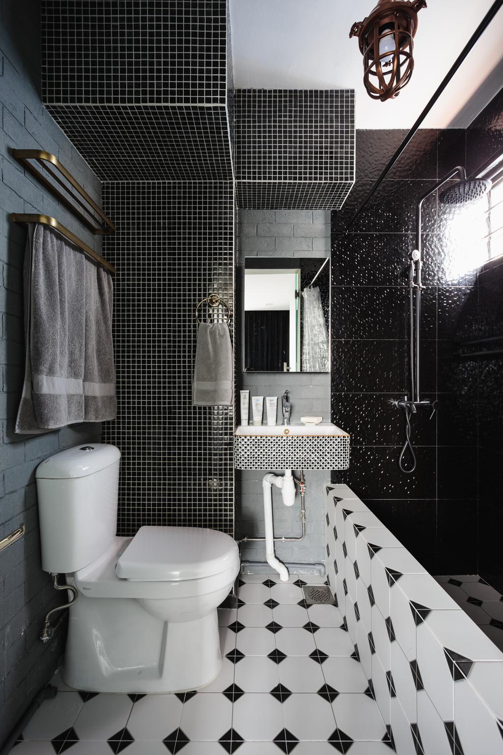 Modern, HDB, Bathroom, Geylang Bahru, Interior Designer, D Initial Concept, Contemporary