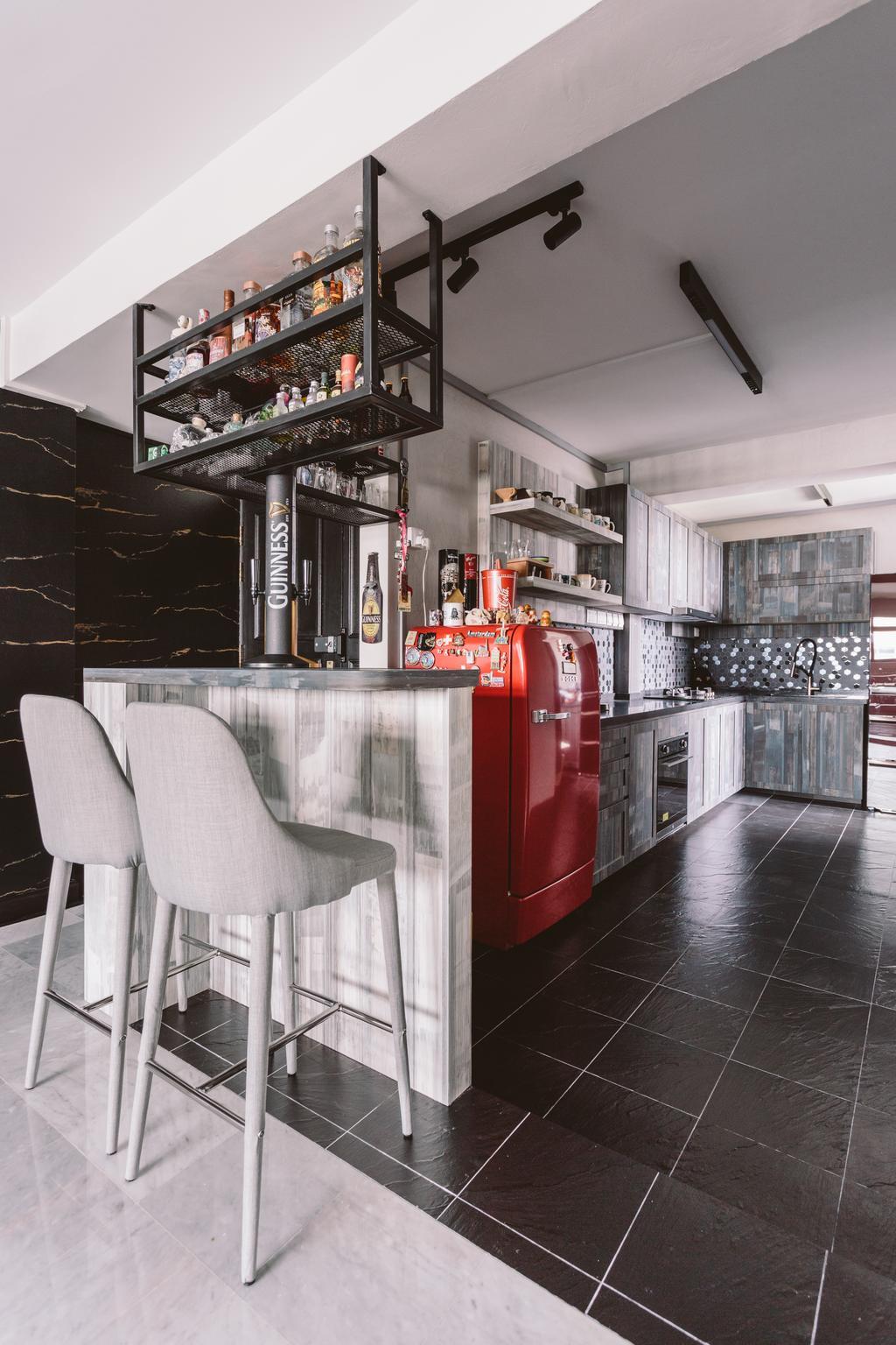 Modern, HDB, Kitchen, Geylang Bahru, Interior Designer, D Initial Concept, Contemporary