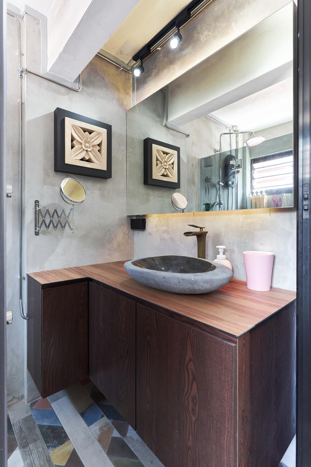 Contemporary, HDB, Bathroom, Changi Village Road, Interior Designer, Bob's Construction & Engineering