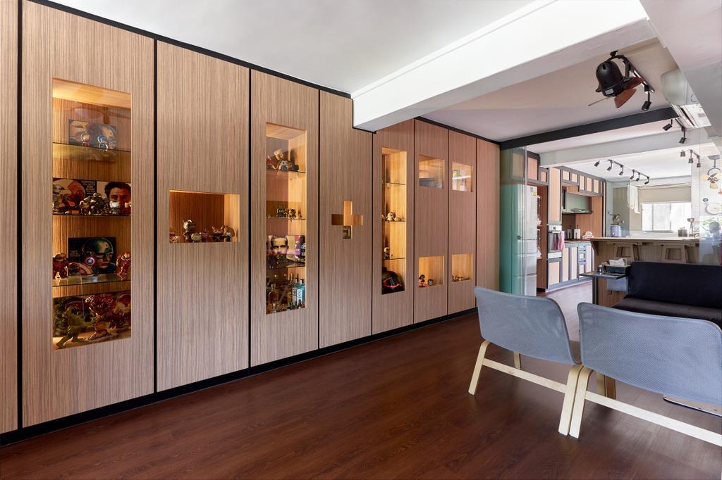 Contemporary, HDB, Living Room, Changi Village Road, Interior Designer, Bob's Construction & Engineering
