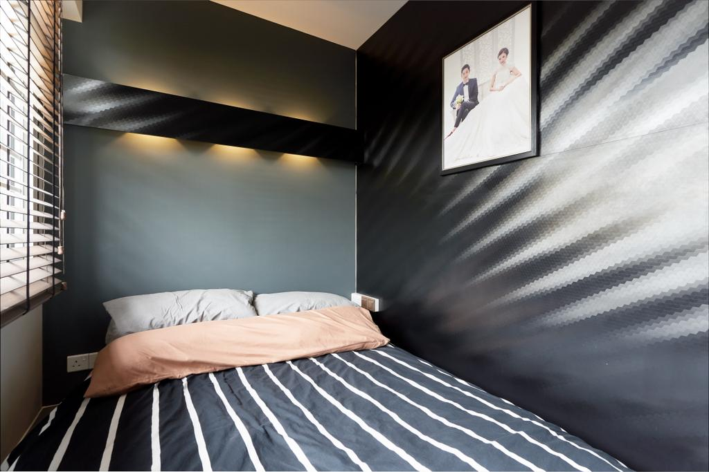 Industrial, HDB, Bedroom, Sumang Lane, Interior Designer, Bob's Construction & Engineering, Contemporary