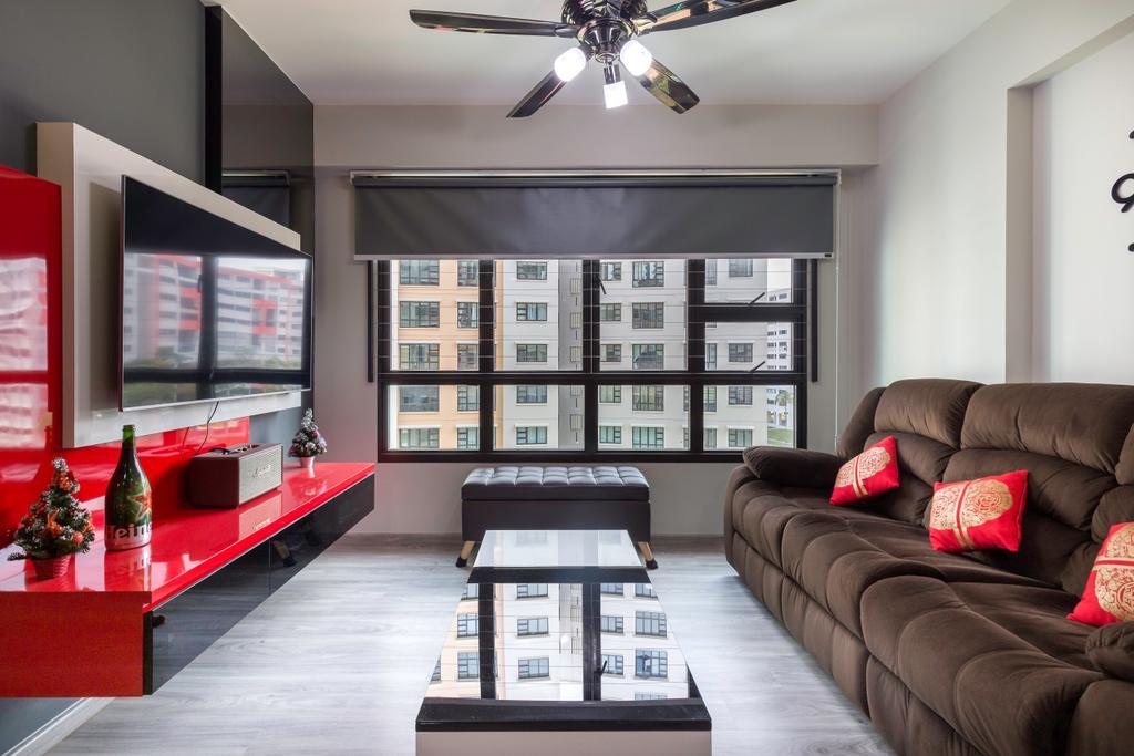 Contemporary, HDB, Living Room, Yishun Avenue 6, Interior Designer, Bob's Construction & Engineering