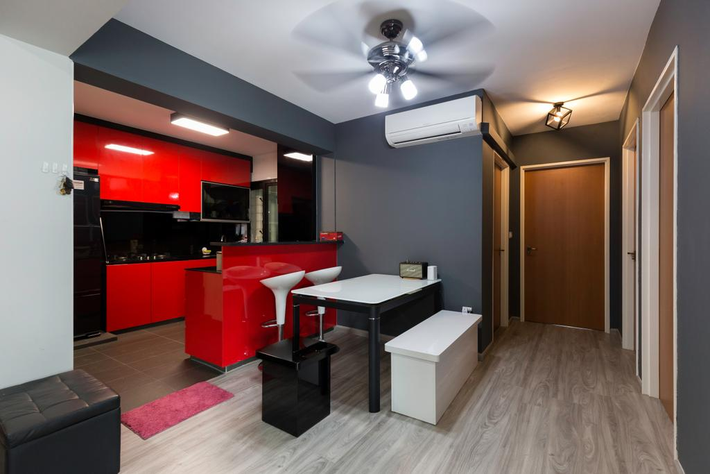 Contemporary, HDB, Dining Room, Yishun Avenue 6, Interior Designer, Bob's Construction & Engineering