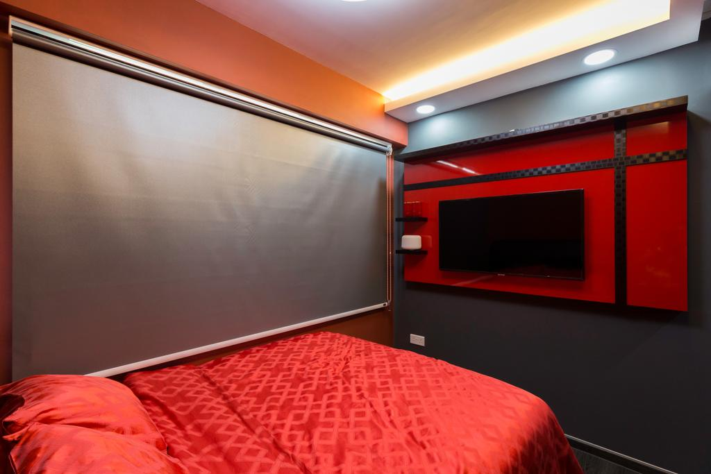 Contemporary, HDB, Bedroom, Yishun Avenue 6, Interior Designer, Bob's Construction & Engineering
