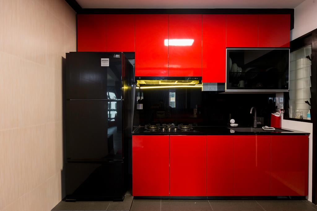 Contemporary, HDB, Kitchen, Yishun Avenue 6, Interior Designer, Bob's Construction & Engineering