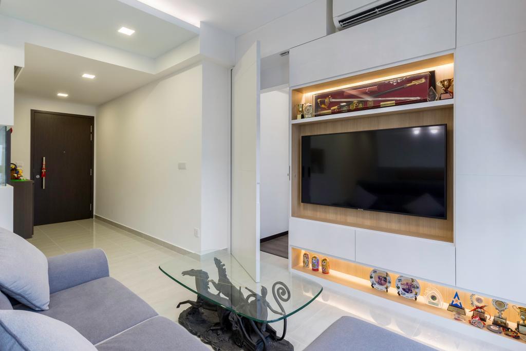 Contemporary, Condo, Living Room, Symphony Suites, Interior Designer, Azcendant