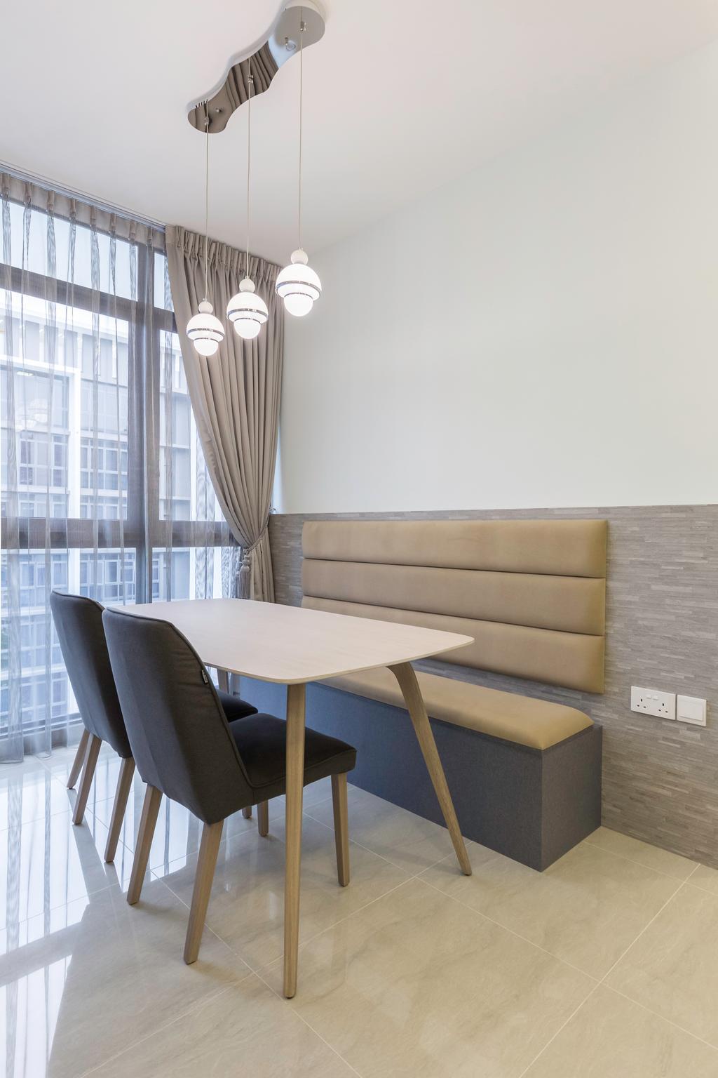 Contemporary, Condo, Dining Room, Symphony Suites, Interior Designer, Azcendant
