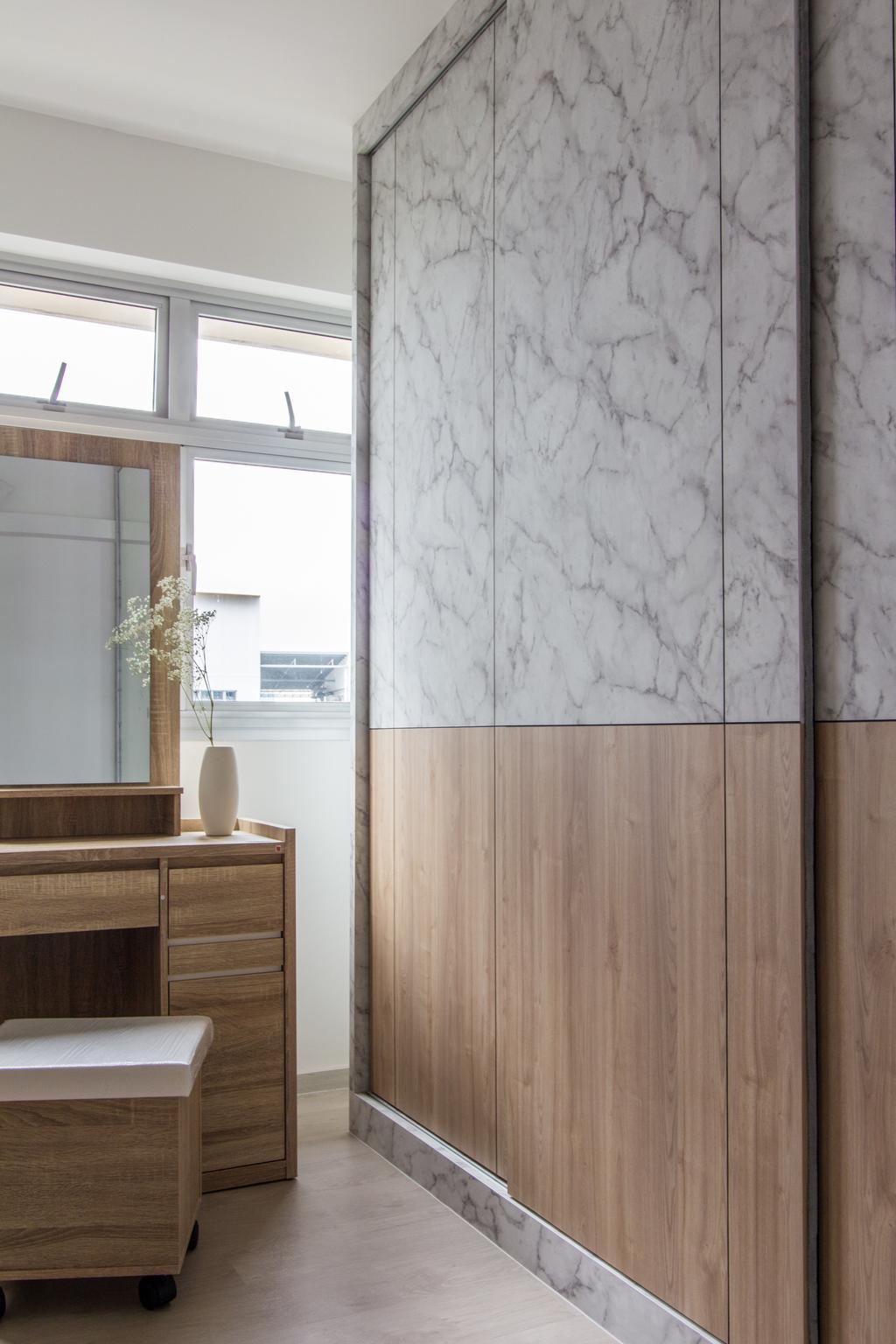 Scandinavian, HDB, SkyPeak @ Bukit Batok, Interior Designer, Couple Abode, Contemporary