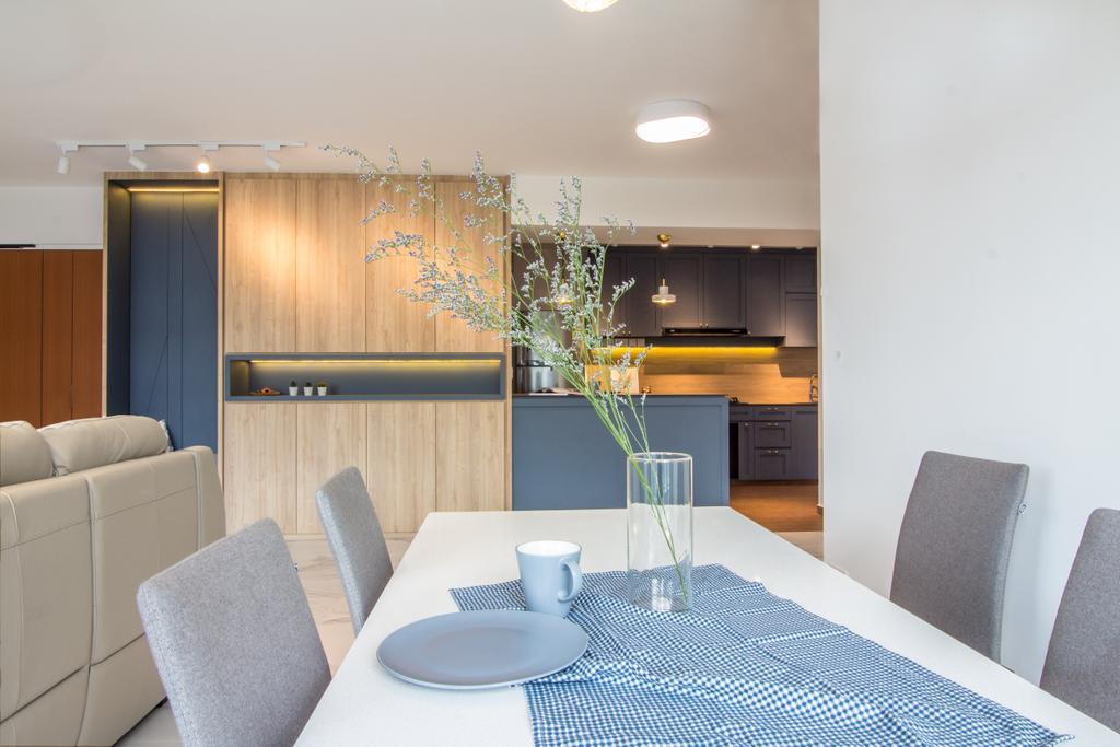 Scandinavian, HDB, Dining Room, SkyPeak @ Bukit Batok, Interior Designer, Couple Abode, Contemporary