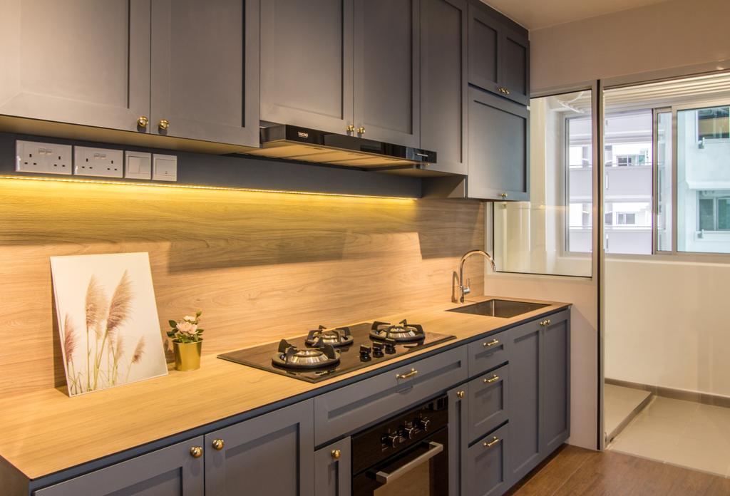 Scandinavian, HDB, Kitchen, SkyPeak @ Bukit Batok, Interior Designer, Couple Abode, Contemporary