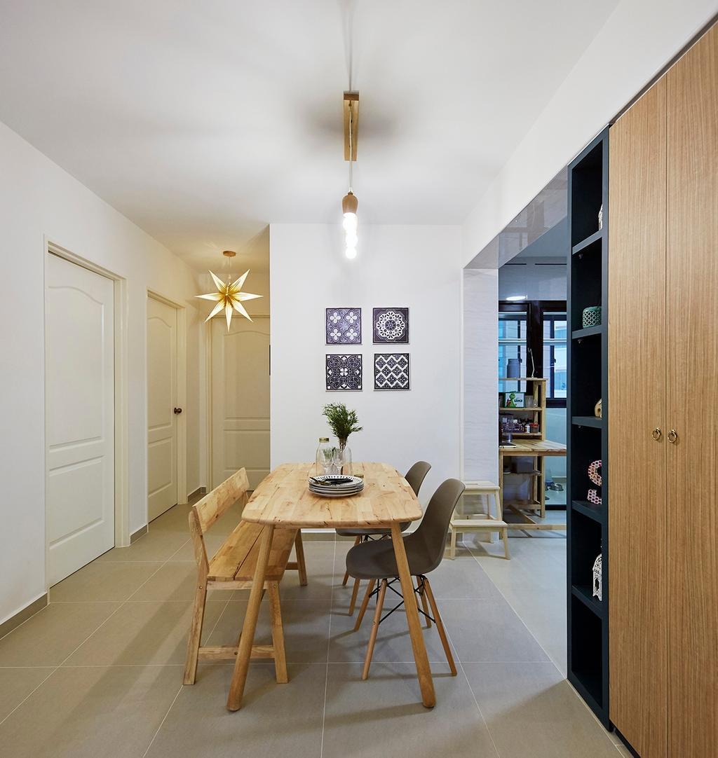 Scandinavian, HDB, Dining Room, Buangkok Tropica, Interior Designer, The Interior Lab
