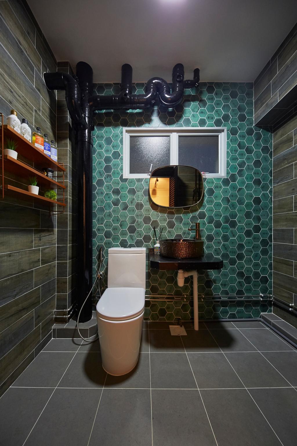 Eclectic, HDB, Bathroom, Pasir Ris Street 71, Interior Designer, The Interior Lab