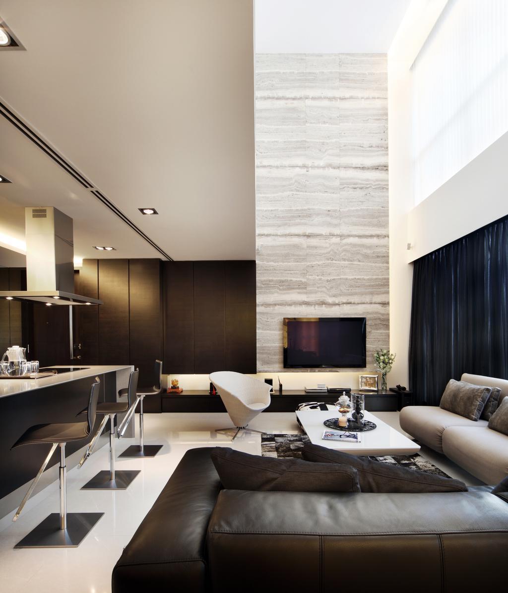 Contemporary, Condo, Living Room, Quinterra, Interior Designer, Haireliving