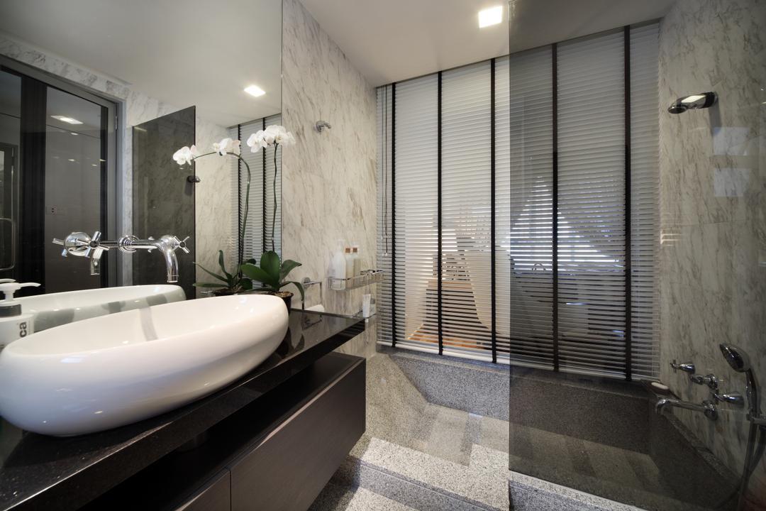 Water Place, Haireliving, Contemporary, Bathroom, Condo, Sunken Bath, Bath Tub, Bathtub