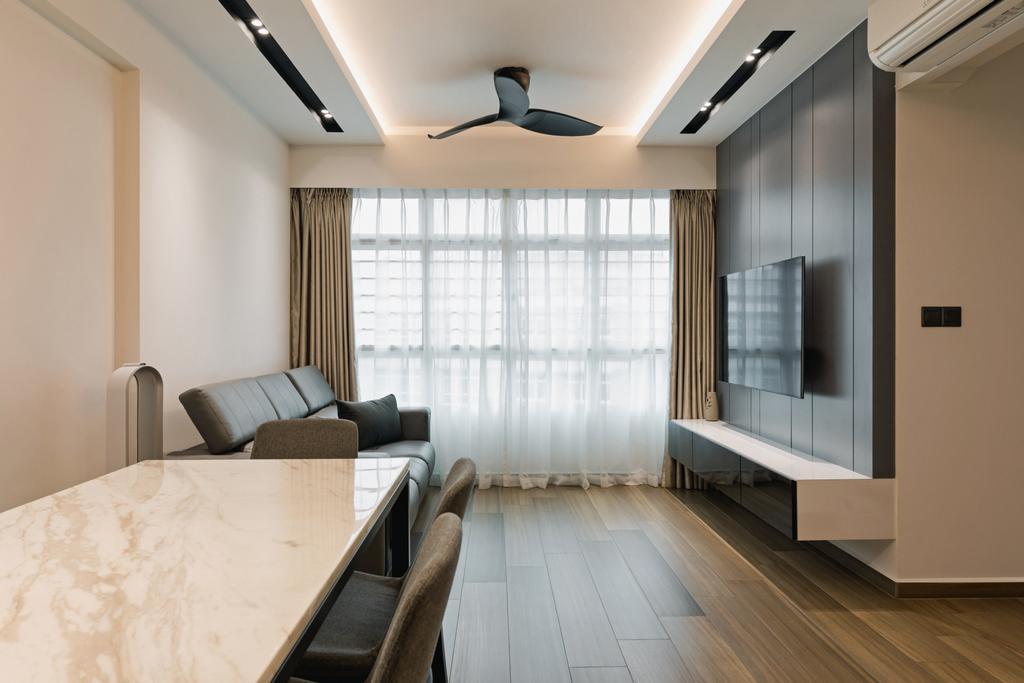 Contemporary, HDB, Living Room, Bukit Batok West Avenue 6, Interior Designer, The Concept