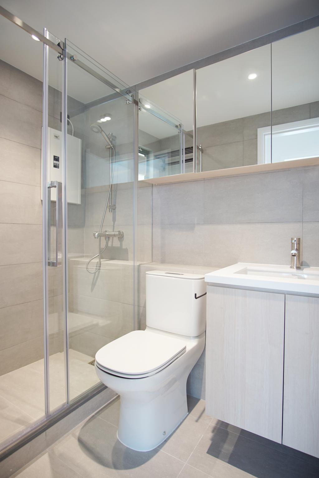 摩登, 私家樓, 浴室, 維港灣, 室內設計師, AQUA Projects, 當代