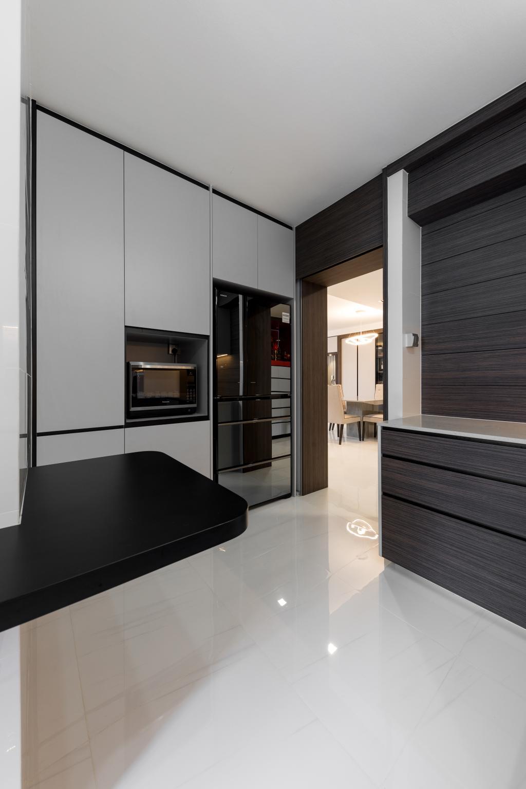 Contemporary, HDB, Kitchen, Toh Guan Road, Interior Designer, ING Designers
