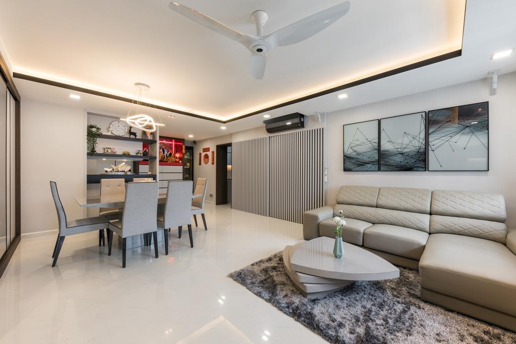 Contemporary, HDB, Living Room, Toh Guan Road, Interior Designer, ING Designers