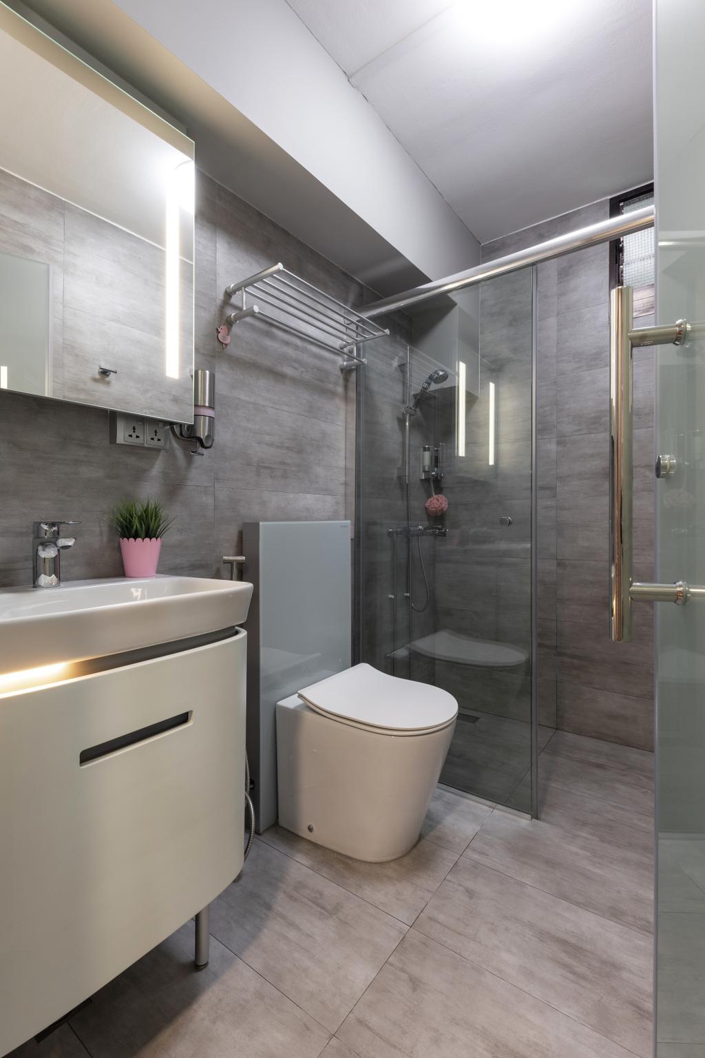 Contemporary, HDB, Bathroom, Toh Guan Road, Interior Designer, ING Designers