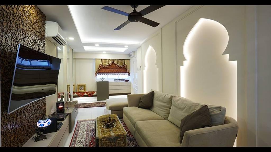 Modern, HDB, Living Room, Tampines Street 12, Interior Designer, ING Designers