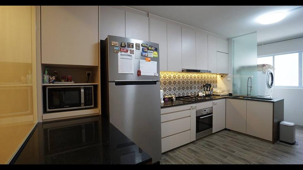 Modern, HDB, Kitchen, Tampines Street 12, Interior Designer, ING Designers