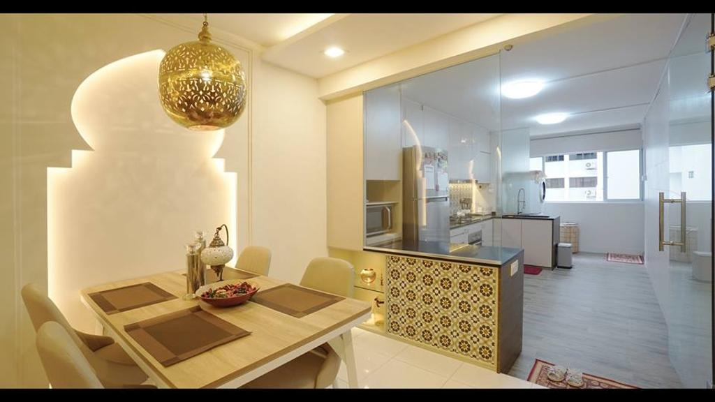 Modern, HDB, Dining Room, Tampines Street 12, Interior Designer, ING Designers