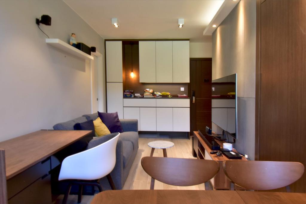 簡約, 私家樓, 客廳, 青衣青俊苑, 室內設計師, X Ka Design