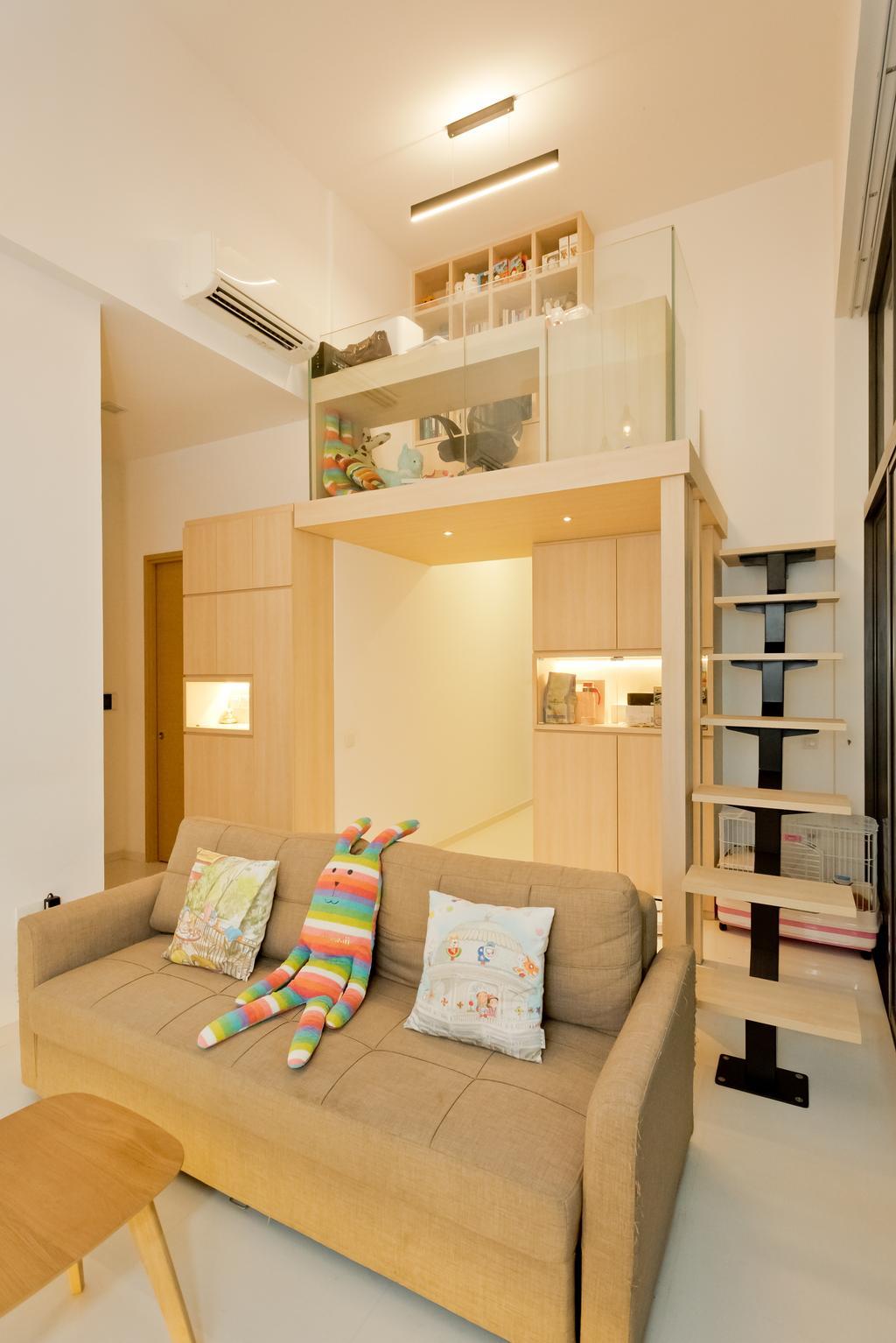 Minimalistic, Condo, Living Room, The Skywoods, Interior Designer, Klein Interiors