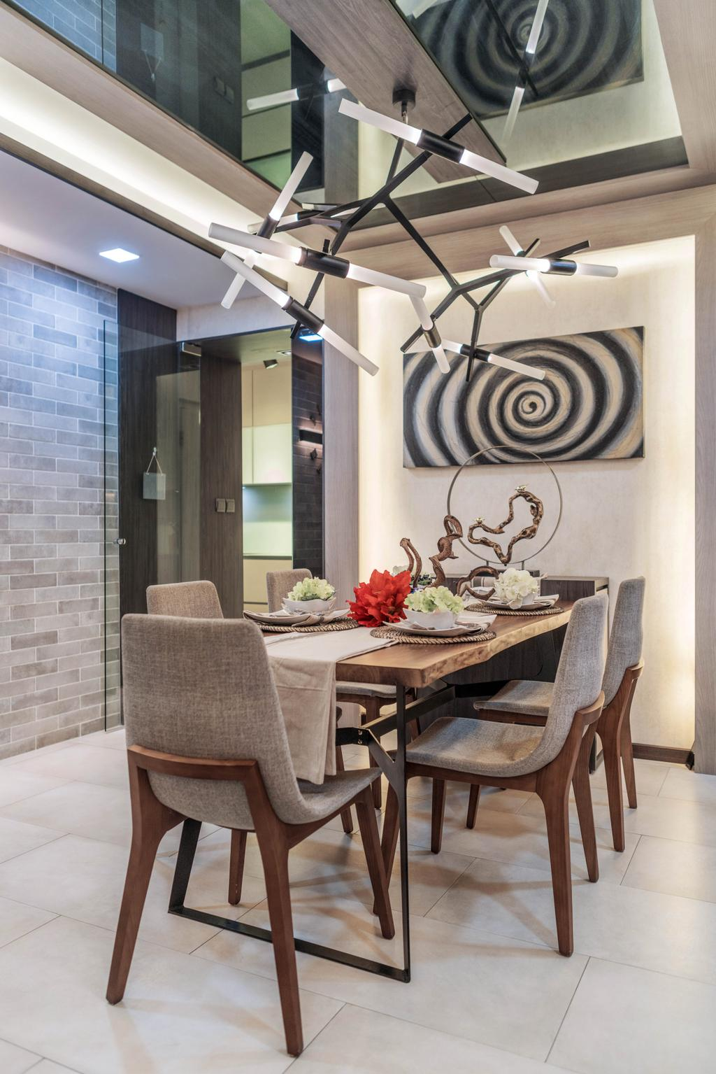 Contemporary, HDB, Dining Room, Ang Mo Kio Street 21, Interior Designer, ING Designers, Transitional