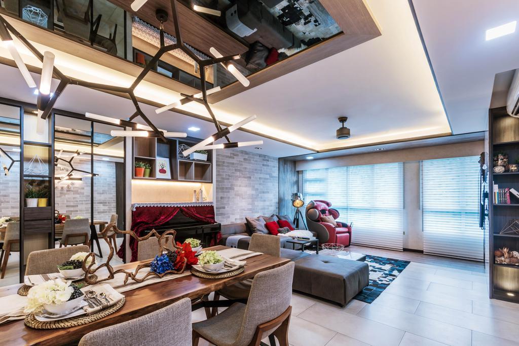Contemporary, HDB, Living Room, Ang Mo Kio Street 21, Interior Designer, ING Designers, Transitional