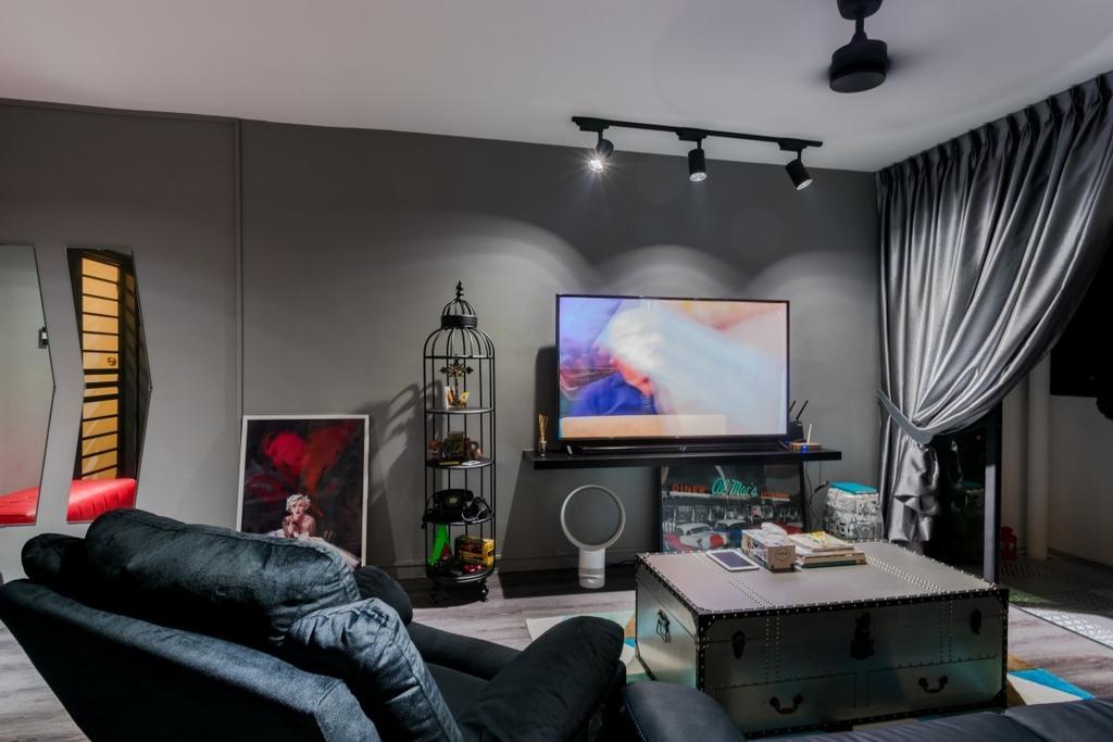 HDB, Living Room, Compassvale Crescent, Interior Designer, Yang's Inspiration Design