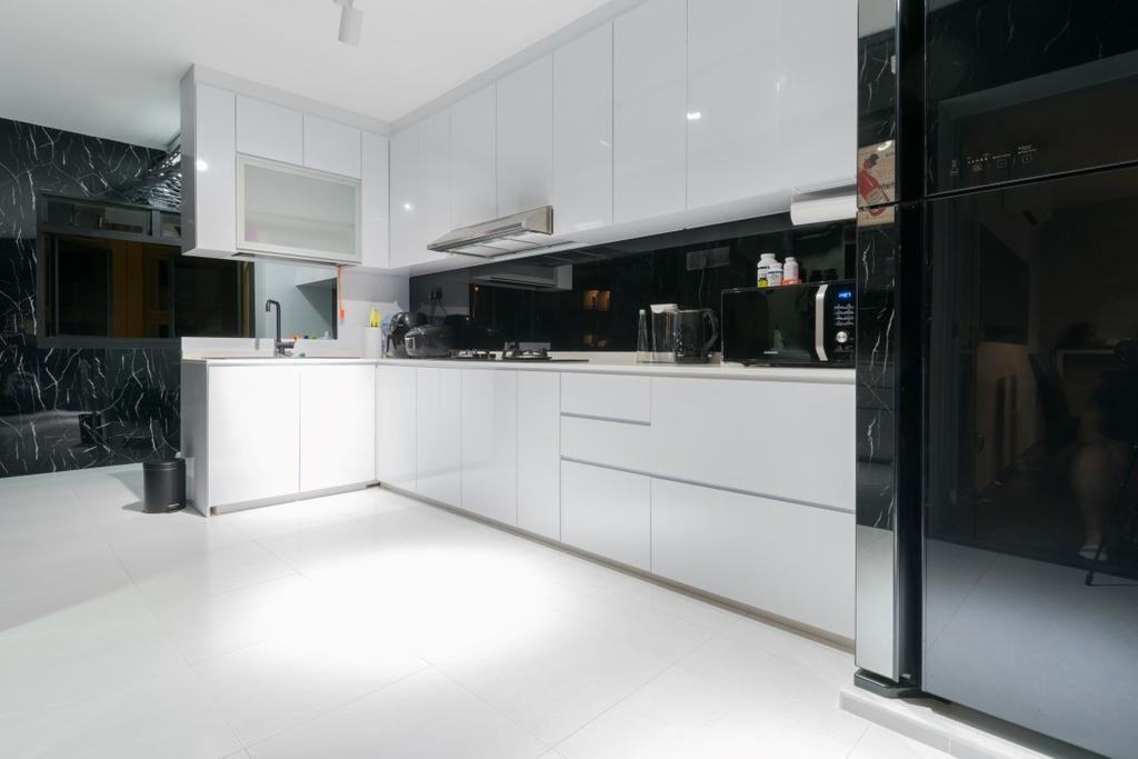 HDB, Kitchen, Compassvale Crescent, Interior Designer, Yang's Inspiration Design