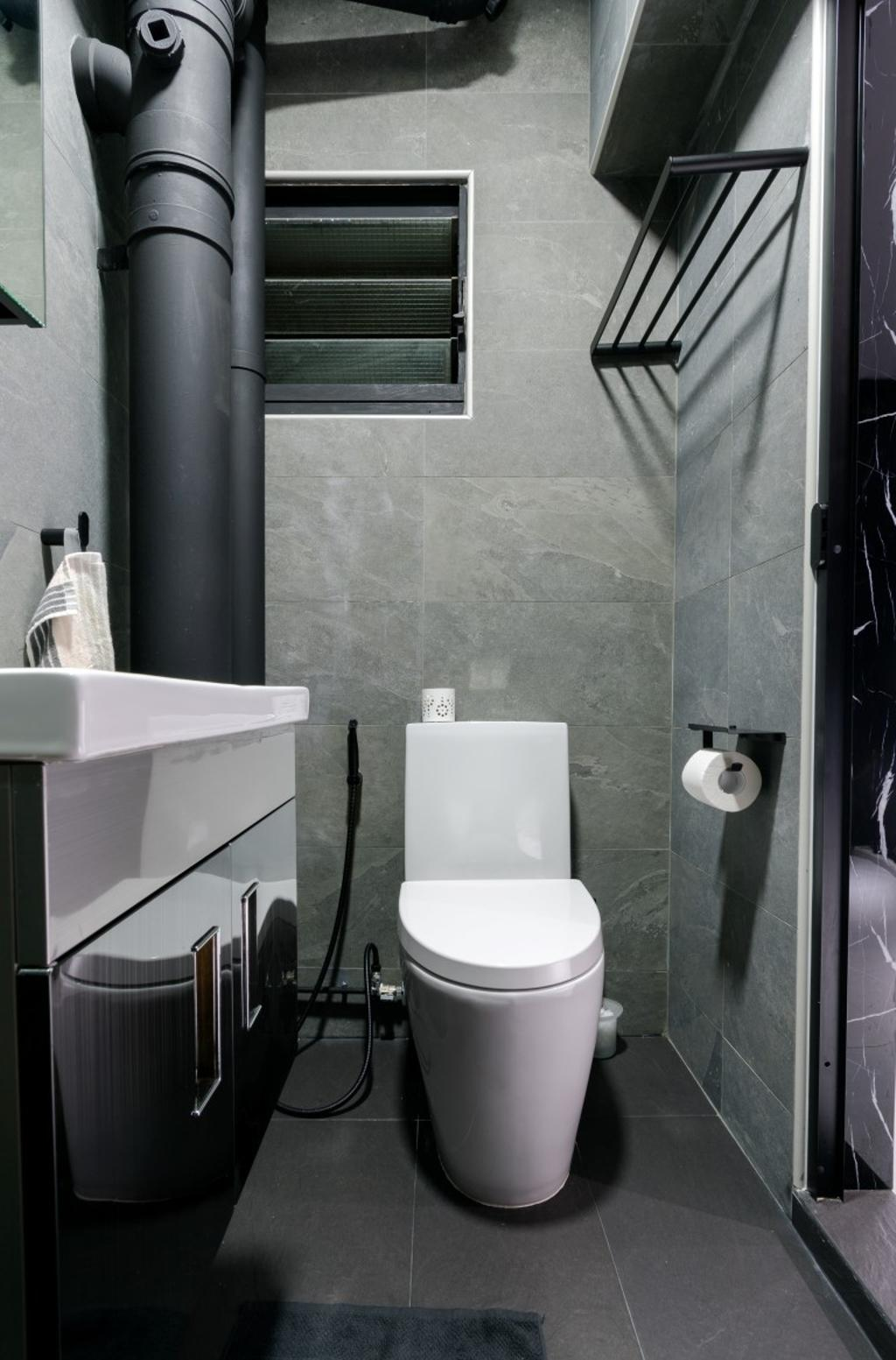 HDB, Bathroom, Compassvale Crescent, Interior Designer, Yang's Inspiration Design