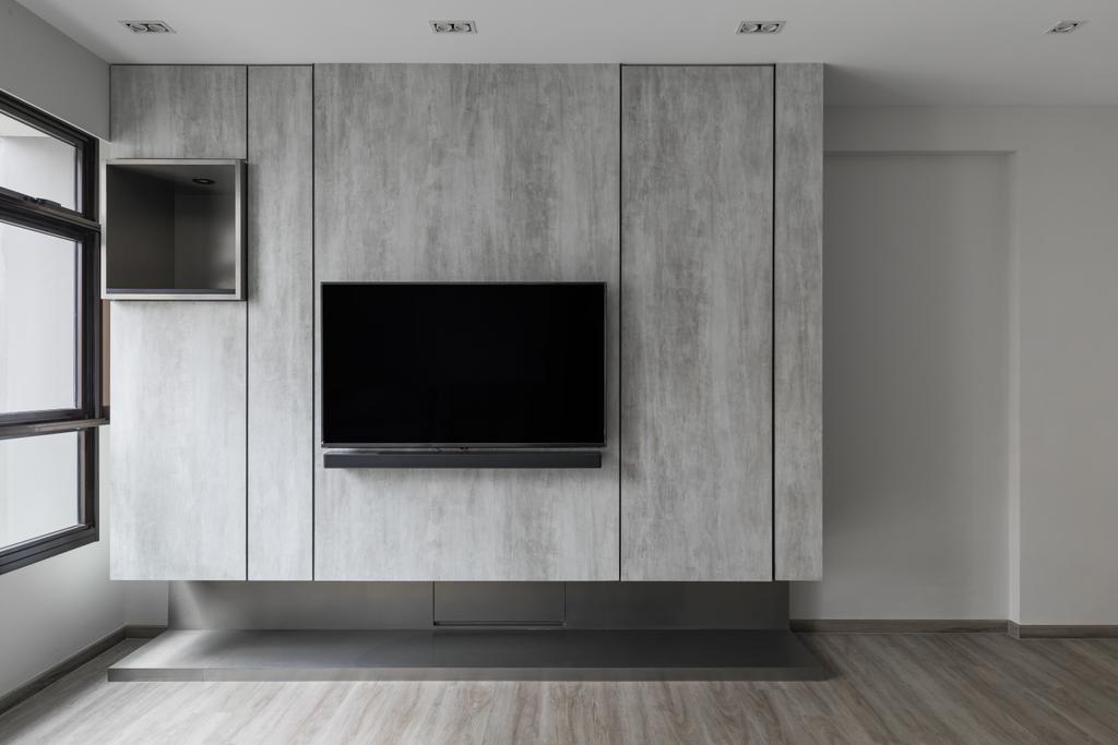 Contemporary, HDB, Living Room, Choa Chu Kang Avenue 1, Interior Designer, The Concept