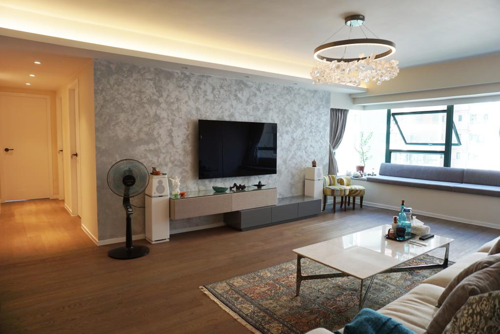 私家樓, 客廳, 觀瀾雅軒, 室內設計師, AQUA Projects