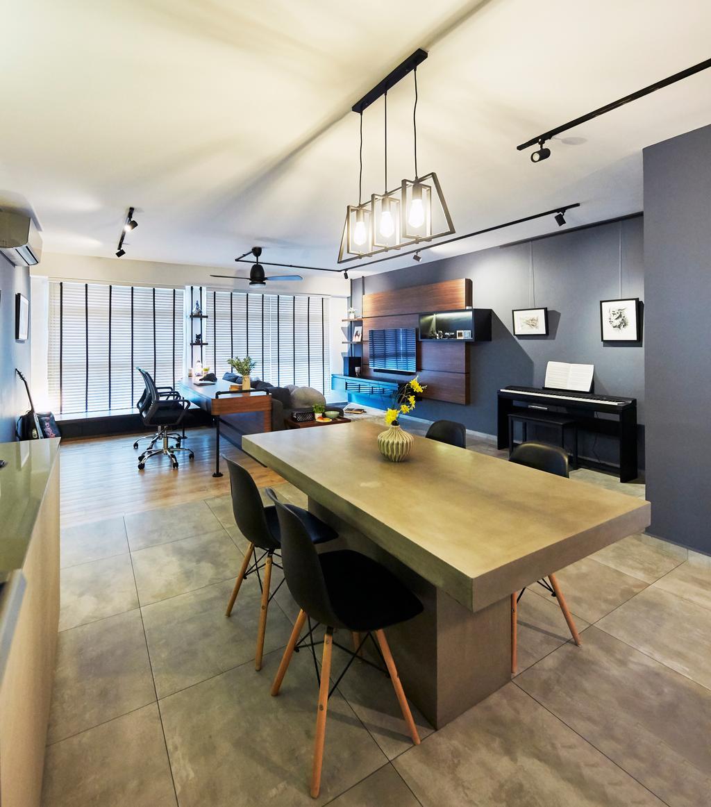Contemporary, HDB, Dining Room, Sumang Lane, Interior Designer, i-Chapter