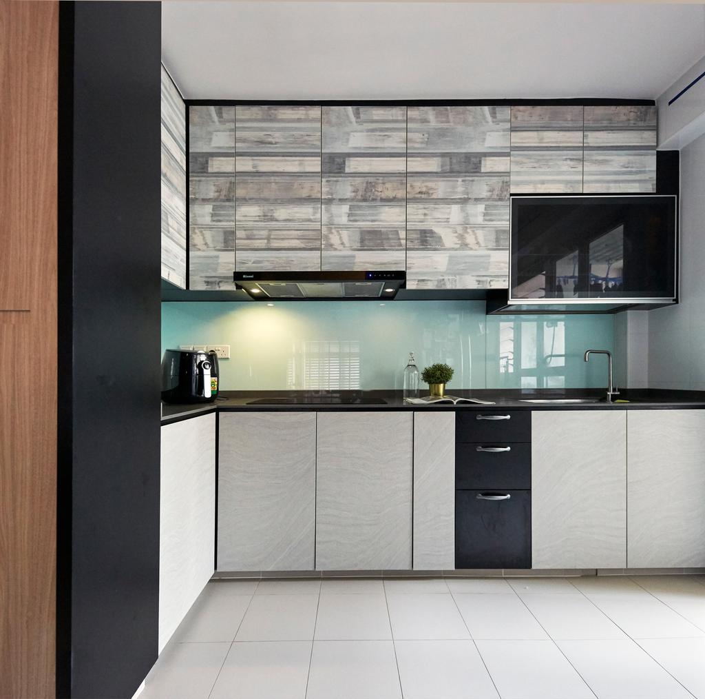Contemporary, HDB, Kitchen, Sumang Lane, Interior Designer, i-Chapter