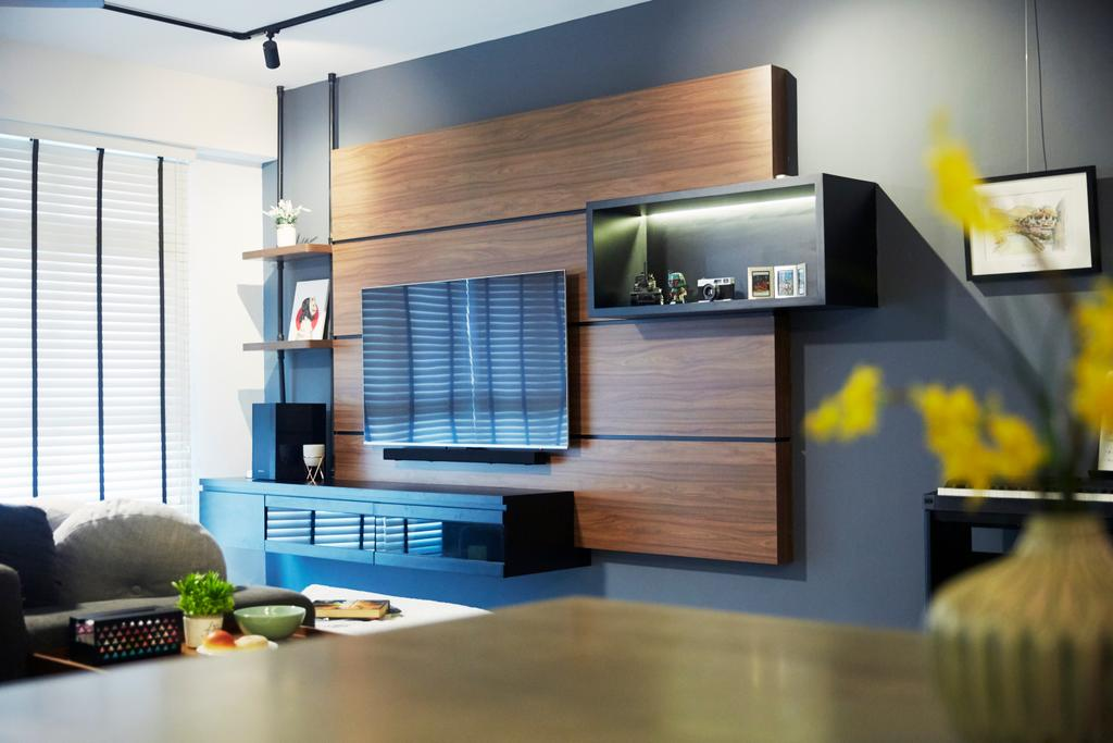 Contemporary, HDB, Living Room, Sumang Lane, Interior Designer, i-Chapter