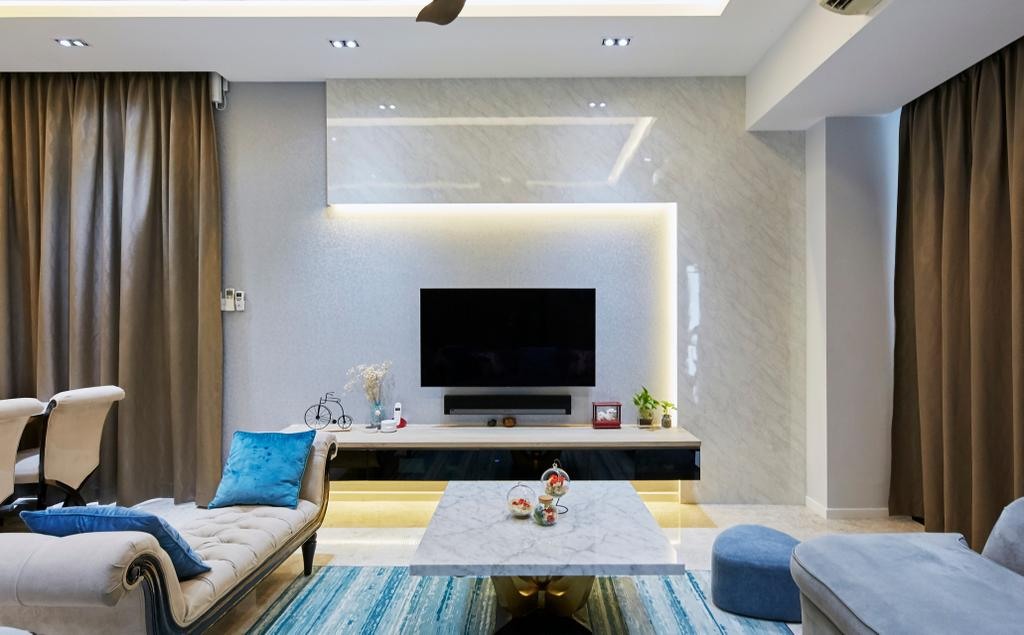 Contemporary, Landed, Living Room, Pavilion Circle, Interior Designer, i-Chapter