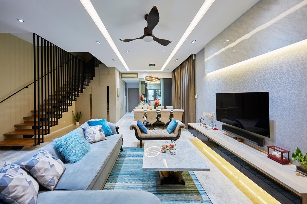 Contemporary, Landed, Living Room, Pavilion Circle, Interior Designer, i-Chapter