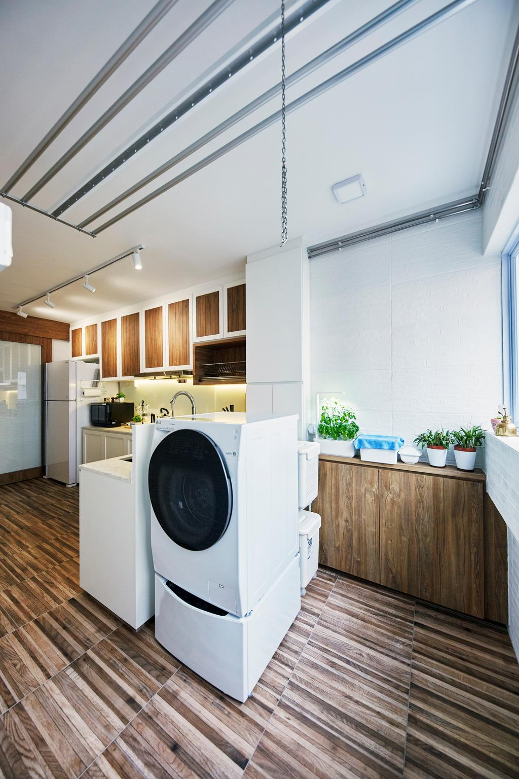 Contemporary, HDB, Kitchen, Serangoon Avenue 2, Interior Designer, i-Chapter