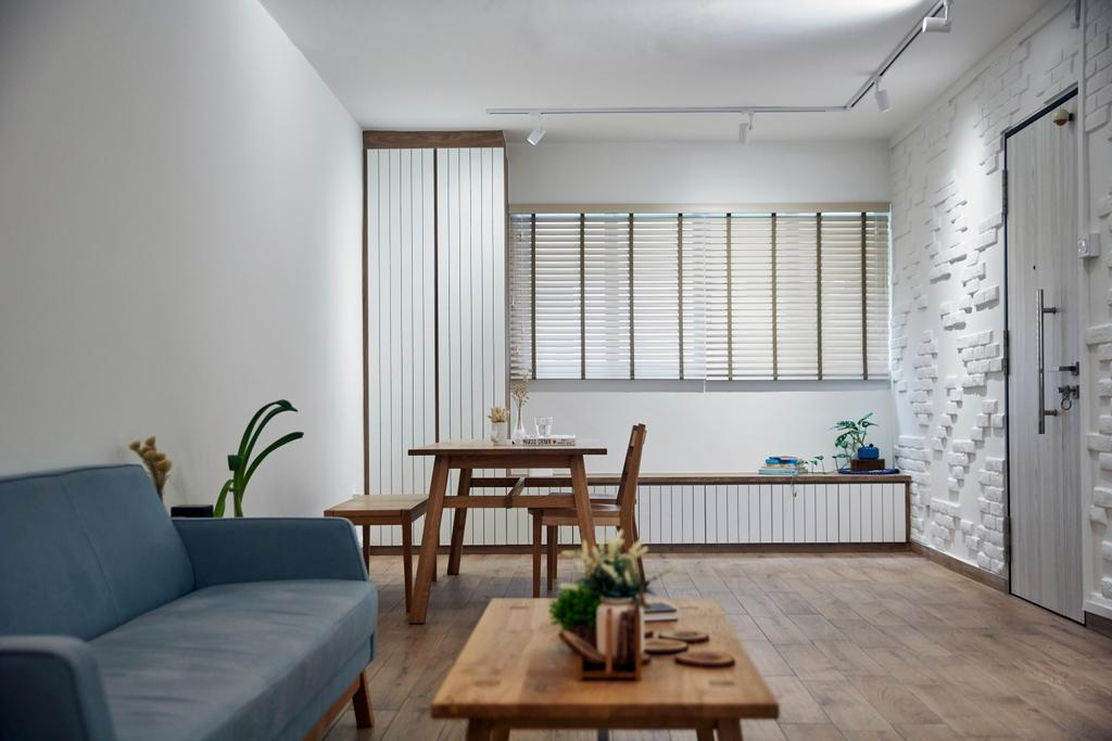 Contemporary, HDB, Living Room, Serangoon Avenue 2, Interior Designer, i-Chapter