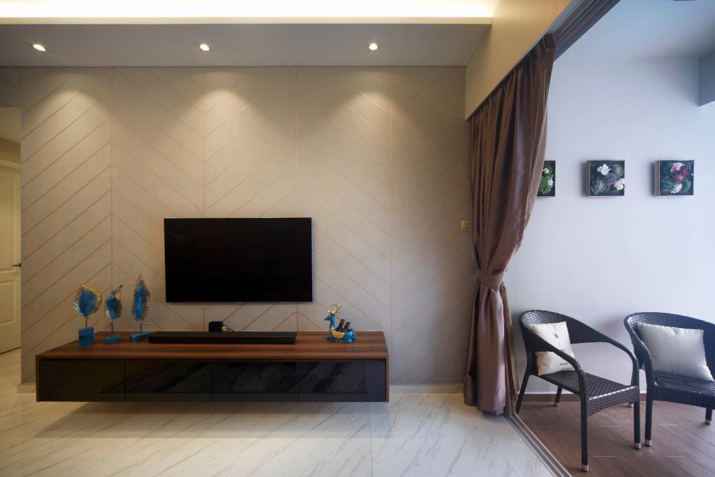 Contemporary, Condo, Living Room, The Stellar, Interior Designer, D5 Studio Image