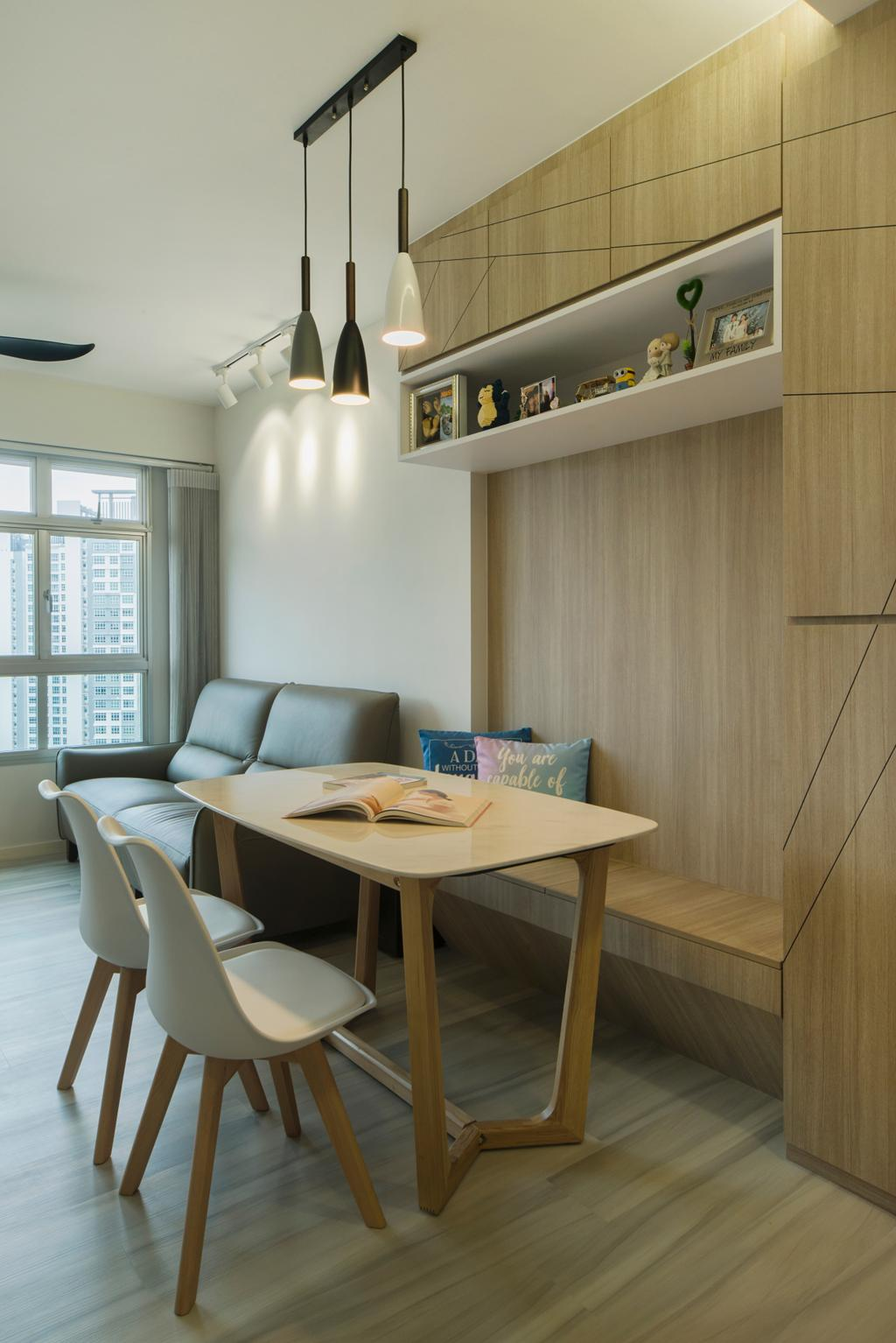 Contemporary, HDB, Dining Room, St. George's Lane, Interior Designer, Great Oasis Interior Design, Scandinavian